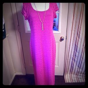 Apt 9 long hot pink maxi dress XL
